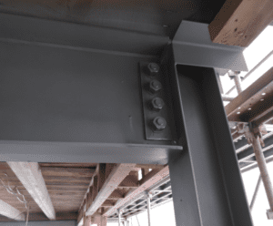 Intumescent Coated Steel structure from the same job