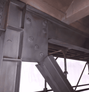 Sand Blasted Steel structure from the same job